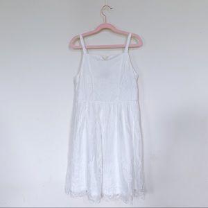 Trixxi Girl Lace White Dress. Big Girl